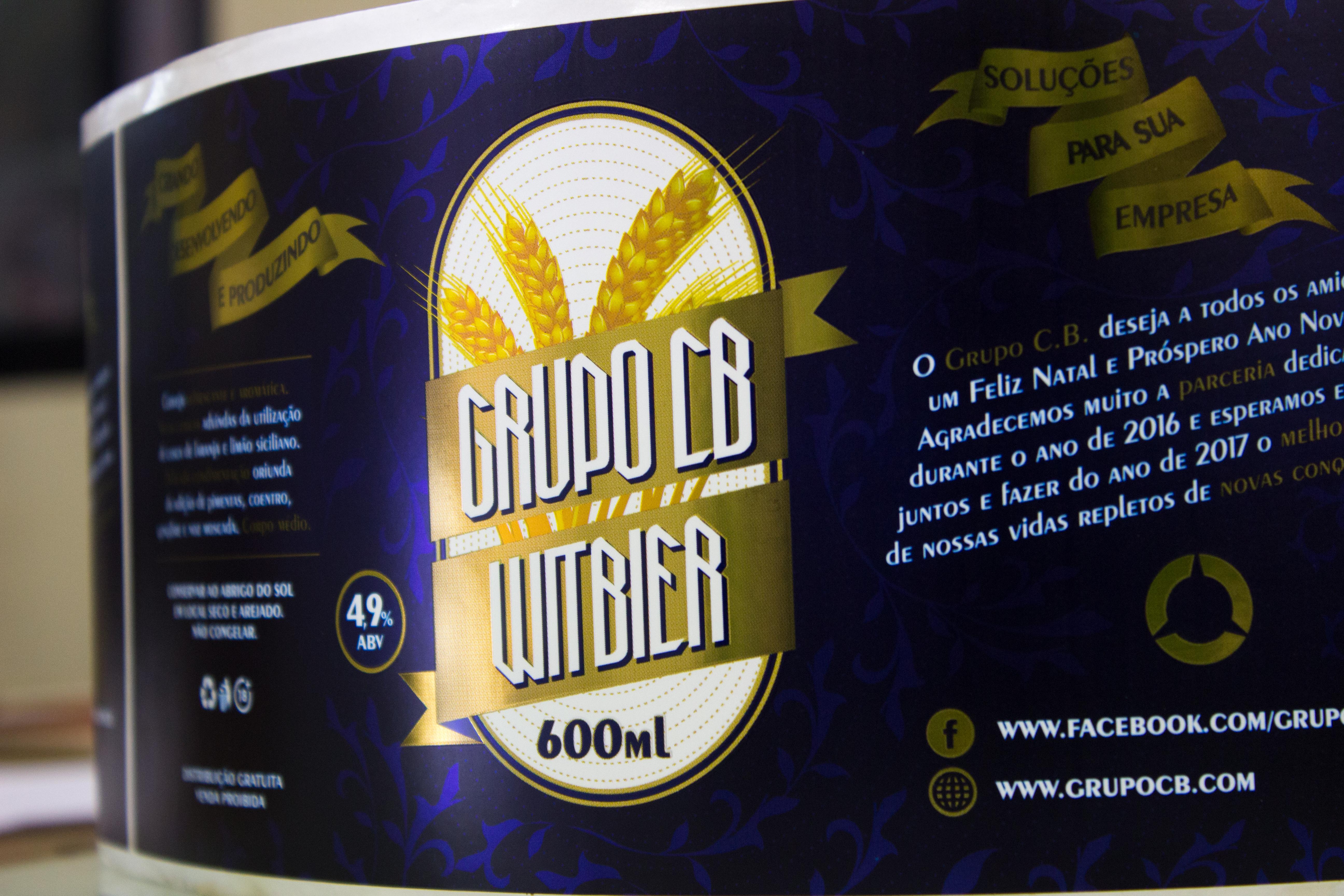 rótulo de cerveja - grupocb
